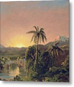 Sunset In Equador Metal Print