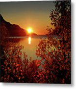 Sunset In Ersfjordbotn Metal Print by John Hemmingsen