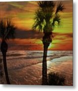 Sunset In Florida Metal Print