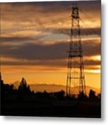 Sunset In Fremont Metal Print