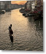 Sunset In Grand Canal Metal Print