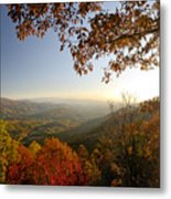 Sunset In Great Smoky Mountains Metal Print