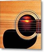 Sunset In Guitar Metal Print