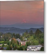 Sunset In Happy Valley Metal Print