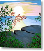 Sunset In Jamaica Metal Print