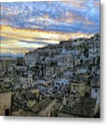 Sunset In Matera.italy Metal Print