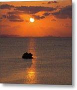 Sunset In Okinawa Metal Print