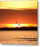 Sunset In Orange Metal Print