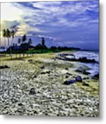 Sunset In Palma Sola Metal Print