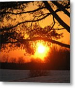 Sunset In Rising Sun Metal Print