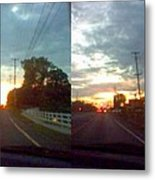 Sunset In Sequence Metal Print