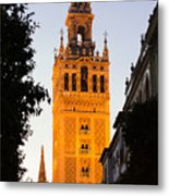 Sunset In Seville - A View Of The Giralda Metal Print