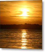 Sunset In Shelter Island  Metal Print