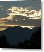 Sunset In Summer Metal Print