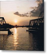 Sunset In Superior Wi Metal Print