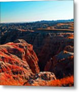 Sunset In The Badlands Metal Print