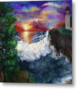 Sunset In The Cove Metal Print