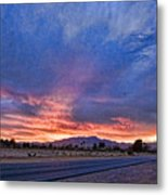 Sunset In The Desert Metal Print