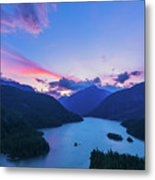 Sunset In The Diablo Lake, Wa Metal Print