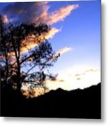 Sunset In The Highlands Metal Print
