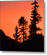 Sunset In The Mountains 2 Metal Print