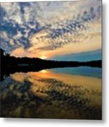 Sunset In The Pinelands  Metal Print