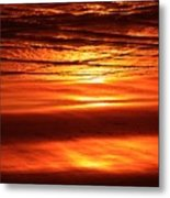 Sunset In The Sand Metal Print