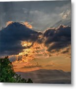 Sunset In The Shenandoah Valley Metal Print