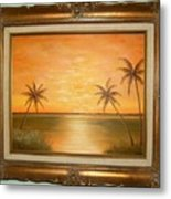 Sunset In The Tropics Metal Print