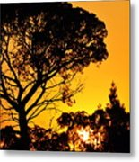 Sunset In Tujunga Metal Print