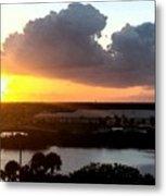 Sunset In Viera Florida Metal Print