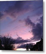 Sunset In Winter Skies  Metal Print