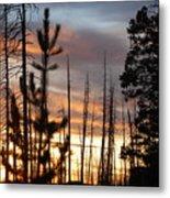 Sunset In Yellowstone Metal Print