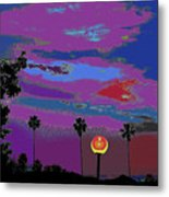 Sunset In Your Colorful Moon Metal Print