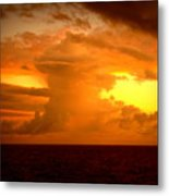 Sunset Indian Ocean Metal Print
