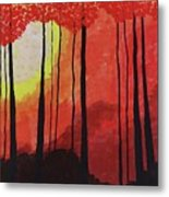 Sunset Into The Forest Metal Print