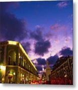 Sunset It Campeche City Downtown Metal Print