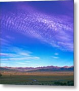 Sunset La Vega Costilla County Co Metal Print