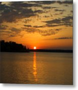 Sunset Lake Pat Mayse From Sanders Cove Metal Print