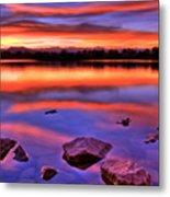 Sunset Lake Metal Print