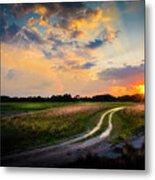 Sunset Lane Metal Print