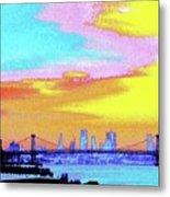 Sunset Lower Manhattan 2c5 Metal Print