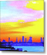 Sunset Lower Manhattan 2c3 Metal Print