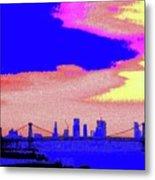 Sunset Lower Manhattan 2c7 Metal Print