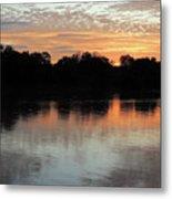 Sunset, Luangwa River, Zambia Metal Print