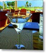 Sunset Martini Metal Print by Randall Weidner