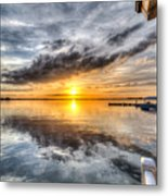 Sunset Mirroracle Metal Print