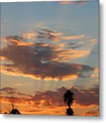 Sunset Moreno Valley Ca Metal Print