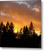 Sunset My Front Yard Metal Print