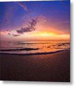 Sunset Naples Beach Florida Metal Print